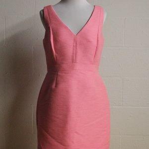 JCrew》 8 Hot Pink textured Dress